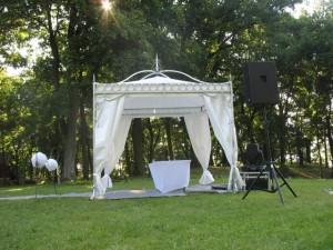 wynajem namiotów weselnych - baldachim 3x3
